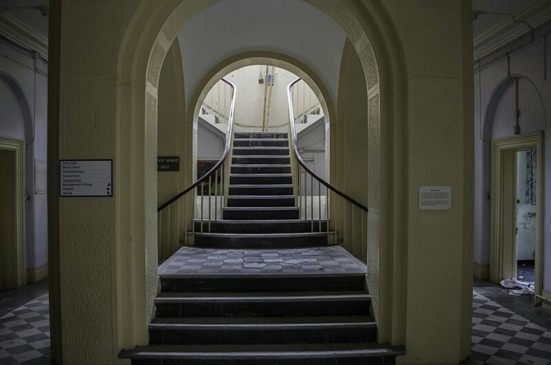 Main staircase at St Clements Hospital, Bow